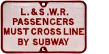 Sale 295, Lot 43, LSWR Cross By Subway
